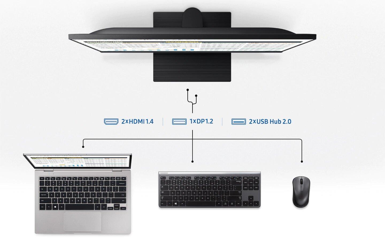 Màn hình máy tính SAMSUNG LF24T450FQEXXV